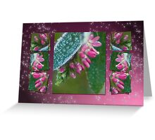 Dressed in ice crystals Greeting Card