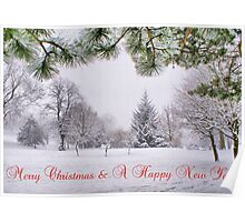Greeting's Card ~ Merry Christmas & A Happy New Year ~ Poster