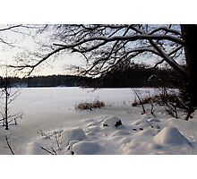 Lake covered in Snow Photographic Print