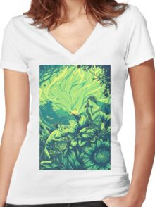 The Frog Prince Women's Fitted V-Neck T-Shirt