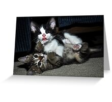 """ Lean on me "" Greeting Card"