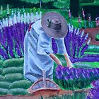 In the Garden of Dreams - Upclose view Acrylic Painting by Rick Short