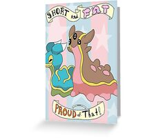 Shellos and Gastrodon: Short and Fat and Proud of That! Greeting Card