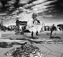 Snake Charmer - Jema El Fna, Marrakesh, Morocco by Matej Kastelic