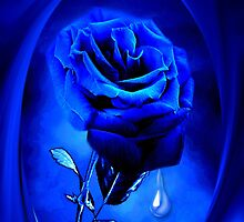 PHOTOSHOP BLUE ROSE VERSION TWO..TEARS OF A BLUE ROSE-PILLOW-JOURNAL,PICTURE-ECT.ECT.. by ✿✿ Bonita ✿✿ ђєℓℓσ