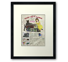 Atomic Ads - MILEMCO Girls Fallout Shelter Playhouse Framed Print