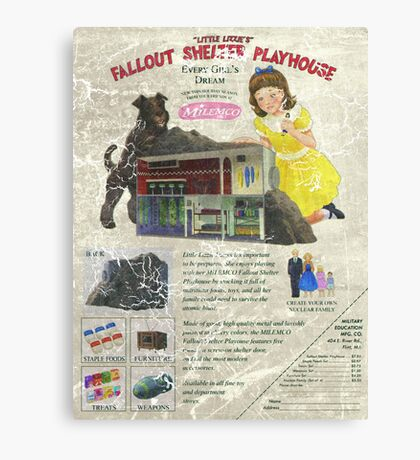 Atomic Ads - MILEMCO Girls Fallout Shelter Playhouse Canvas Print