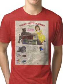 Atomic Ads - MILEMCO Girls Fallout Shelter Playhouse Tri-blend T-Shirt