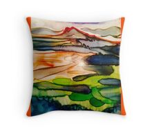 Castle hill wash Throw Pillow