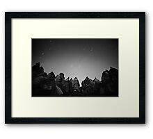 Night Over the Giants - Cappadocia, Turkey Framed Print