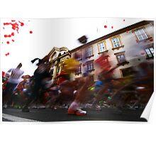 Marathon runners - Ljubljana, Slovenia; Europe Poster