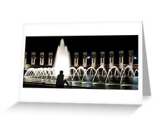 Pondering by the fountain Greeting Card
