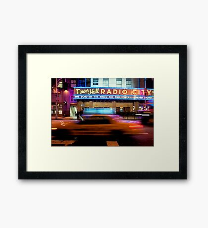 Taxi to Radio City Framed Print