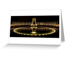 WWII Memorial @ night Greeting Card