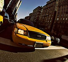 Yellow cab by MarkStuttard