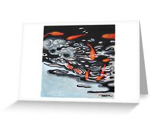 Ten Little Koi Greeting Card