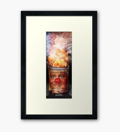 The Blaze Framed Print