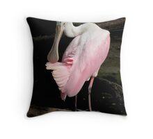 Spoonbill Posing Throw Pillow