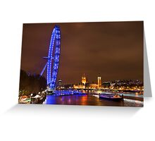 Night falls on the capital Greeting Card