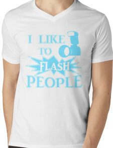 I Like To Flash People Funny Photographer Mens V-Neck T-Shirt