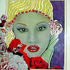 Gwen Stefani in mixed media by symea