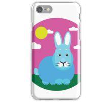 Rabbit on the field iPhone Case/Skin