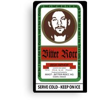 Bitter Rocc Label Canvas Print