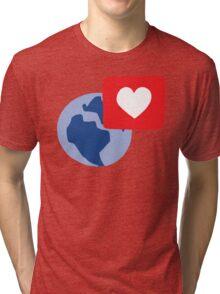 Love notification Tri-blend T-Shirt