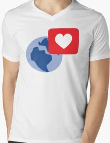 Love notification Mens V-Neck T-Shirt