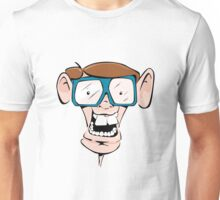 Crazy geek with glasses Unisex T-Shirt