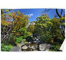 Colourful Stream Landscape Poster