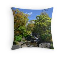 Colourful Stream Landscape Throw Pillow