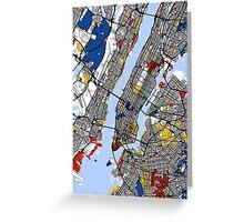New York Mondrian map Greeting Card