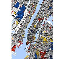 New York Mondrian map Photographic Print