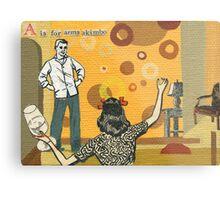 Adult Alphabet: The Letter A Metal Print