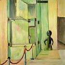 Museum of Anthropology, mixed media on paper by Sandrine Pelissier