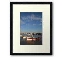 Bridlington harbour No 3  Framed Print