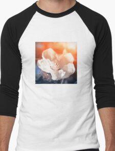 Blooming Apple Tree Men's Baseball ¾ T-Shirt