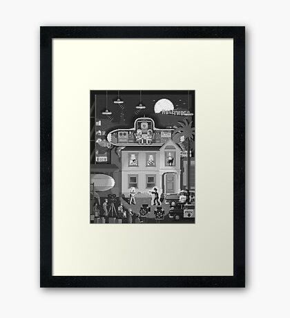 Scene #17: 'Visitors From Outer Space' Framed Print