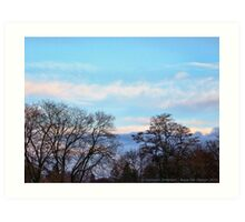 November Sky in Kalispell - South Art Print