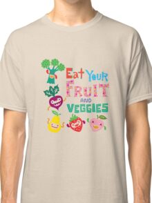 Eat your Fruit and Veggies - beige Classic T-Shirt