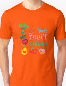 Eat your Fruit and Veggies - beige Unisex T-Shirt