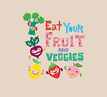 Eat your Fruit and Veggies - beige Womens Fitted T-Shirt