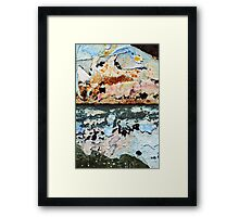 tropical sunset over waters blue Framed Print
