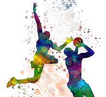 Basketball Players by Marlene Watson
