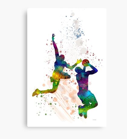 Basketball Players Canvas Print