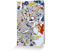 Boston Mondrian map Greeting Card
