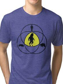 Man Bear Pig Venn Diagram Tri-blend T-Shirt