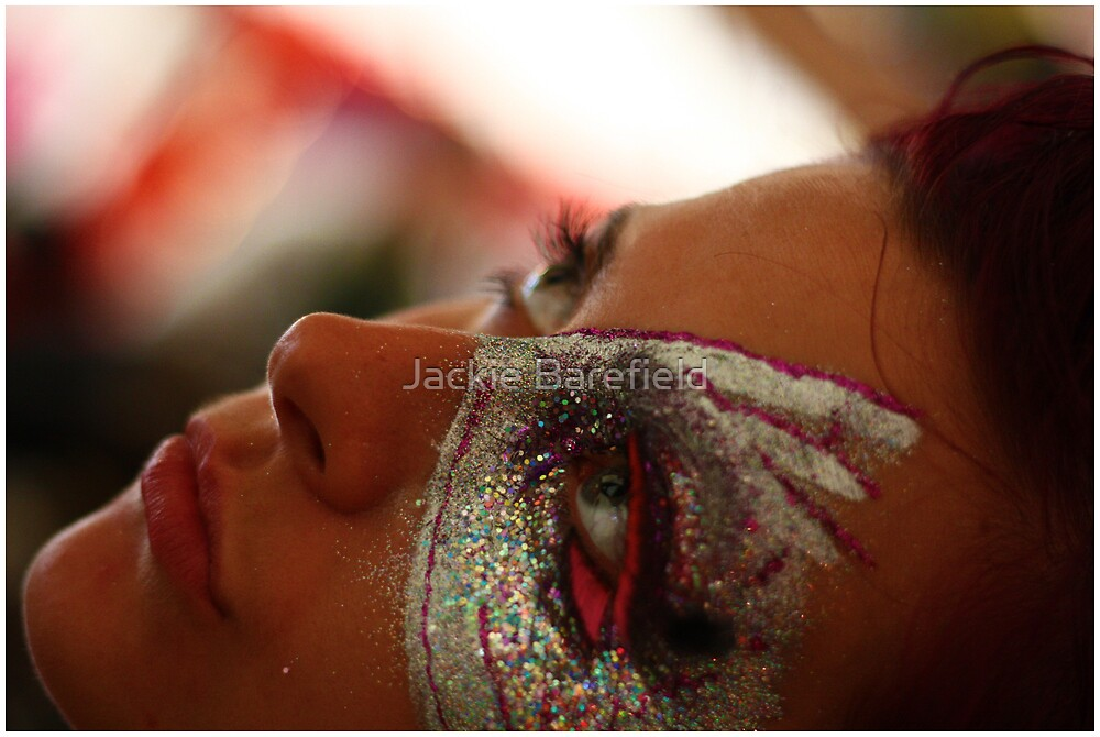 Portrait, facepaint by Jackie Barefield