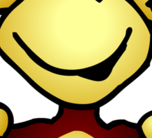 Manic Monkey with 4 thumbs up Sticker
